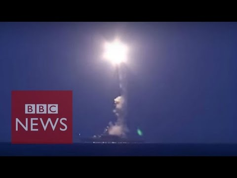 Russia 'hits Islamic State in Syria from Caspian Sea' - BBC News