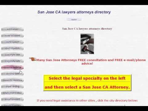 San Jose California Lawyers & Attorneys Directory - San Jose Lawyers