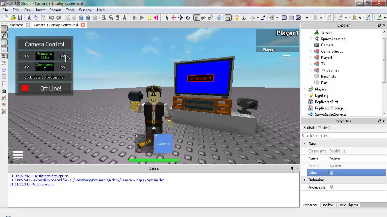 Roblox Projects Camera Tv Update Mobile Cameras Youtube