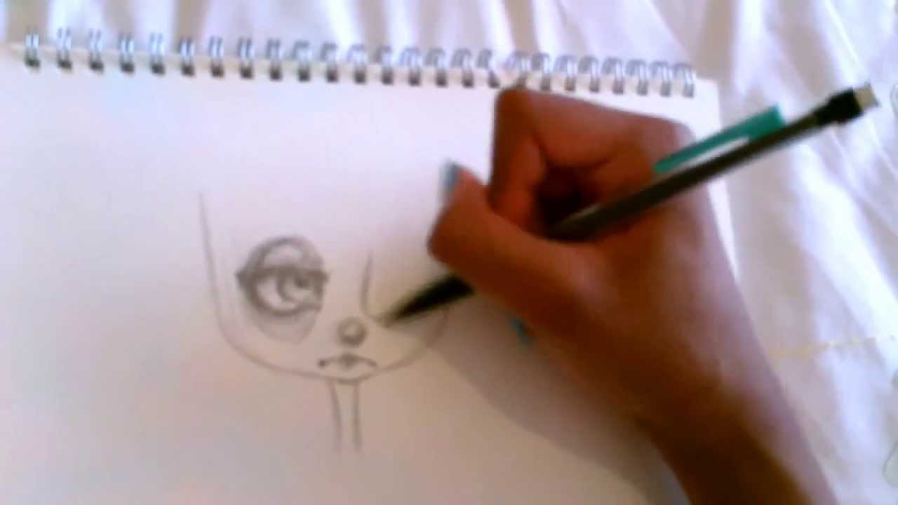Zombie Face Line Drawing : How to draw a chibi zombie girl youtube