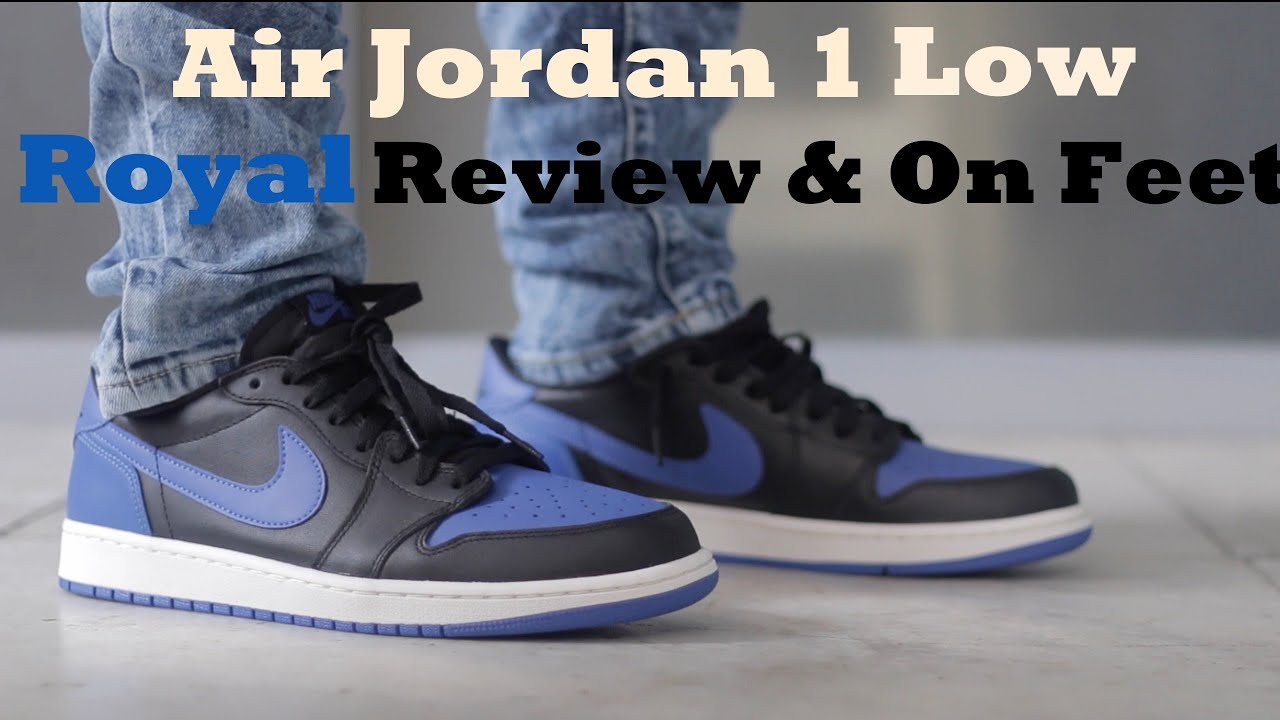 7ae7db900b42f8 Air Jordan 1 Low  Royal  Review   On Feet - YouTube