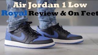 e4501a47f22a Air Jordan 1 Low  Royal  Review   On Feet