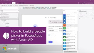 Comment construire un sélecteur de personnes dans PowerApps avec Azure AD