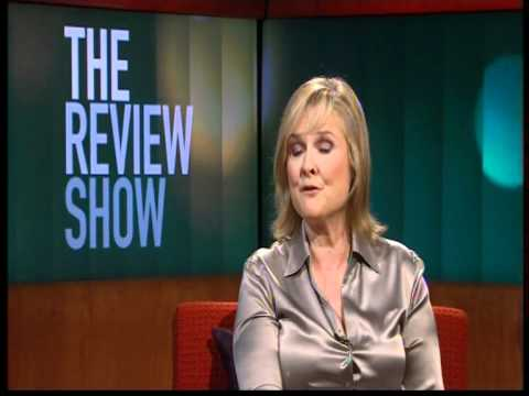 the review show - martha kearney in satin blouse.