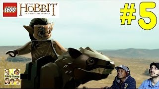 Lets Play Lego Hobbit: The Troll Hoard / Gundabad Warg - Part 5 Co-Op Commentary