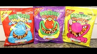 England Eatables #27 Mega Monster Munch: Flamin' Hot, Pickled Onion & Roast Beef
