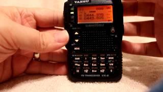 Трансивер радіостанція Yaesu VX-8DR з AM/FM радіо слухати підручник