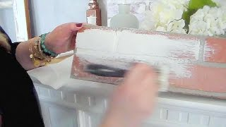 How to chalk paint faux brick and Room tour