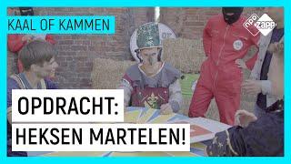 RIDDER SLAAT PRINSES MET POEP HAND | Kaal of Kammen: Table of Terror | NPO Zapp