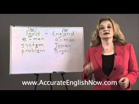 English pronunciation lesson - vowel changes in stressed and unstressed syllables