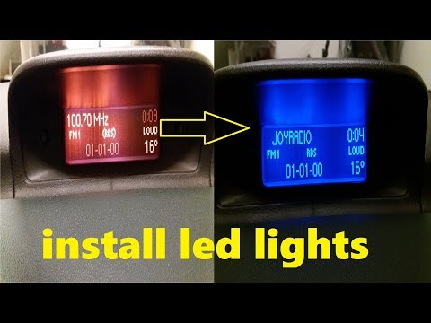 D.I.Y - How To Install LED Display Lights: Peugeot 307