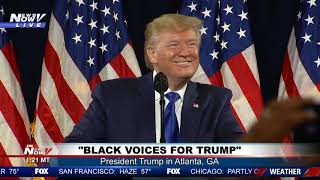 """BLACKS FOR TRUMP: """"Call It Whatever You Want"""" President Trump Polls Crowd"""