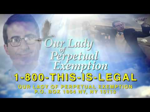 Televangelist John Oliver Starts Church To Get Rich (1-800-THIS-IS-LEGAL)