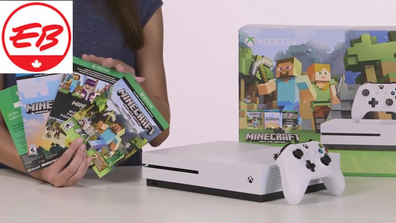 Xbox One S Minecraft Bundle Unboxing | EB Games