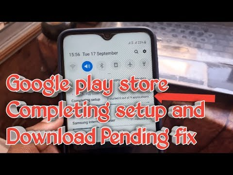 How To Fix Google Play Store Completing Setup Or Download Pending Error!