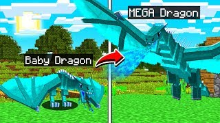 LIFE OF AN ICE DRAGON IN MINECRAFT!