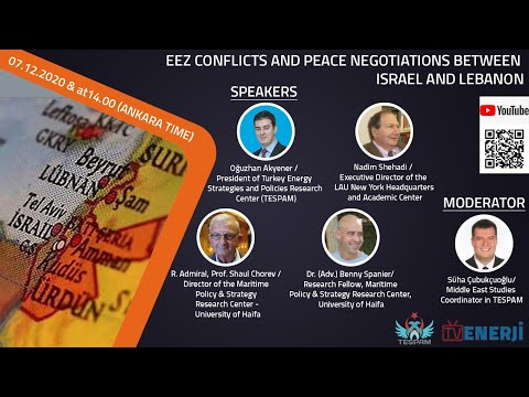 EEZ Conflicts And Peace Negotiations Between Israel And Lebanon Panel