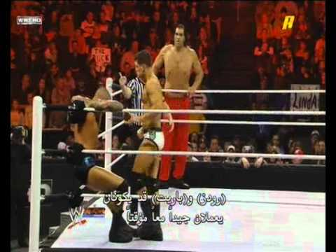 Randy Orton and THE Great Khali Vs Cody Rhodes and Wade Barrett (2.6.12)