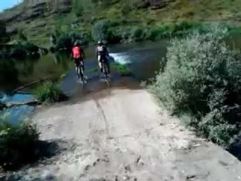 Travessia do Rio Coa entre Cinco Vilas e Vale de  Madeira em Btt