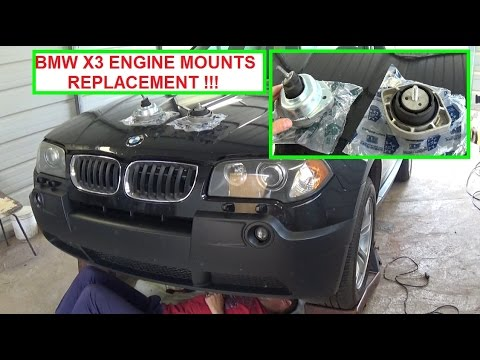 Bmw X3 E83 Engine Mount Replacement Driver Side And