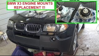 BMW X3 e83 Engine Mount Replacement  Driver side and Passenger side Engine Mount Replacement!