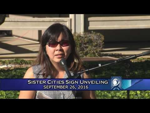 Sister City Sign Unveiling Ceremony
