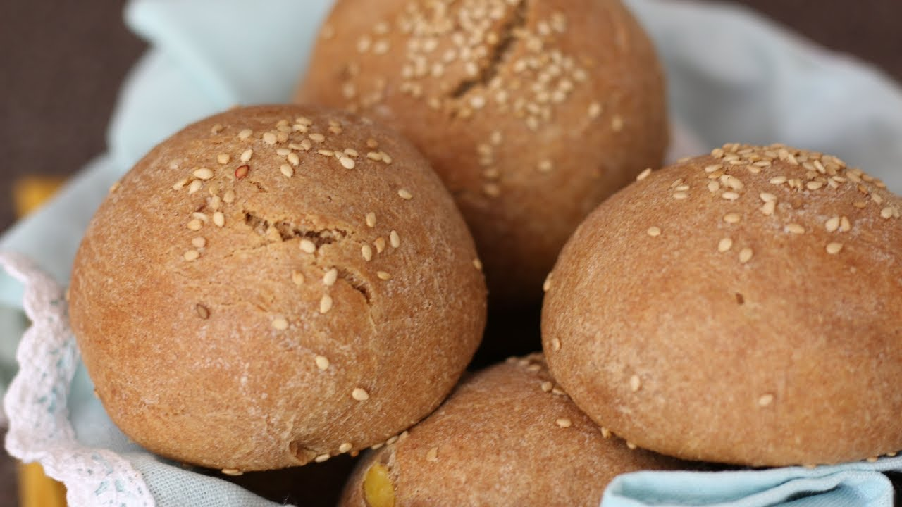 No Egg No Yeast Whole Wheat Sesame Rolls With Sweet Potato Youtube