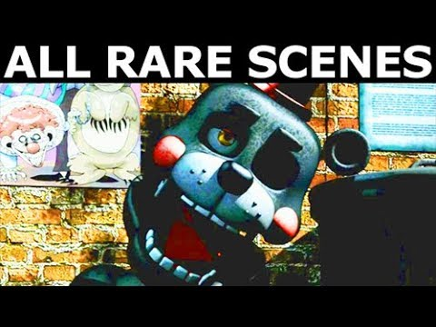 FNAF 6 - All Secret Rare Animatronic Game Over Scenes (Freddy Fazbear's Pizzeria Simulator)