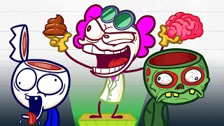 Max Survived Zombie Apocalypse - Brain Mayhem Pencilanimation Short Animated Film