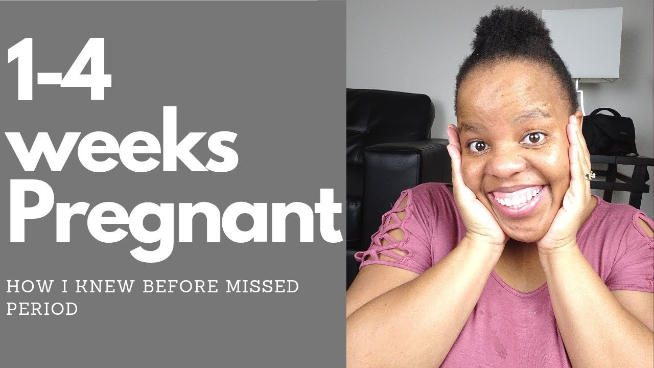 1-4 WEEKS PREGNANT | Early Signs of Pregnancy before missed period
