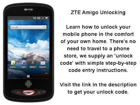 Unlock ZTE Amigo By Unlock Code