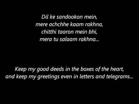 Channa Mereya with Lyrics and English...