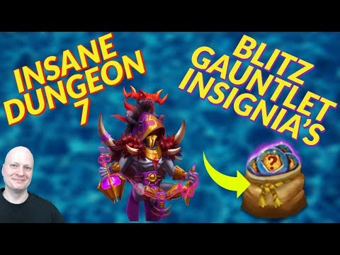 Insane Dungeon 7 | Blitz Gauntlet | Free To Play | Castle Clash | Insignia