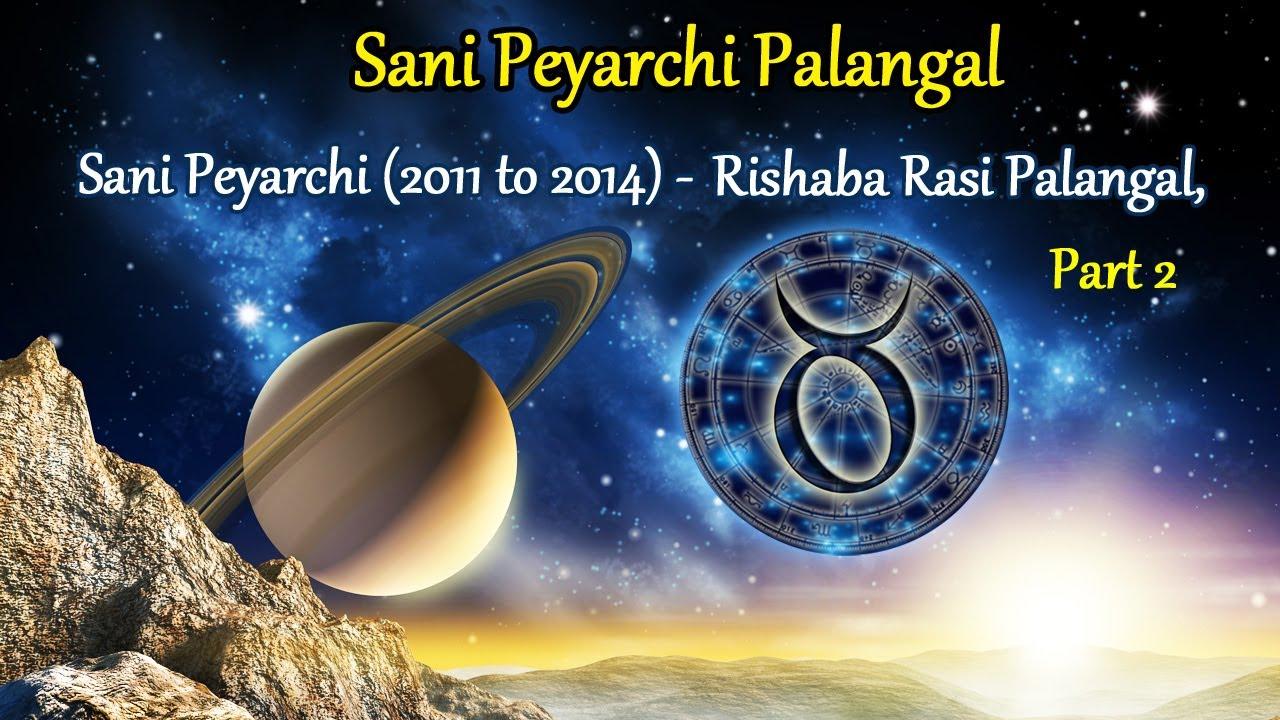 Sani peyarchi palangal sani peyarchi 2011 to 2014 rishaba rasi palangal part 2