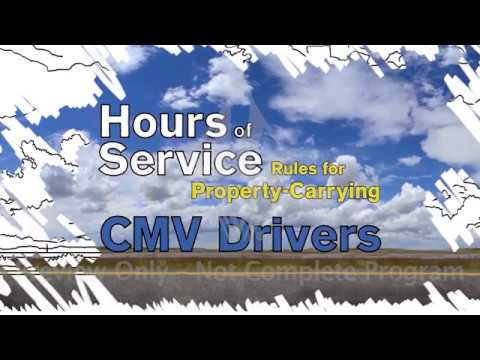 Hours Of Service Rules For Property-Carrying CMV Drivers
