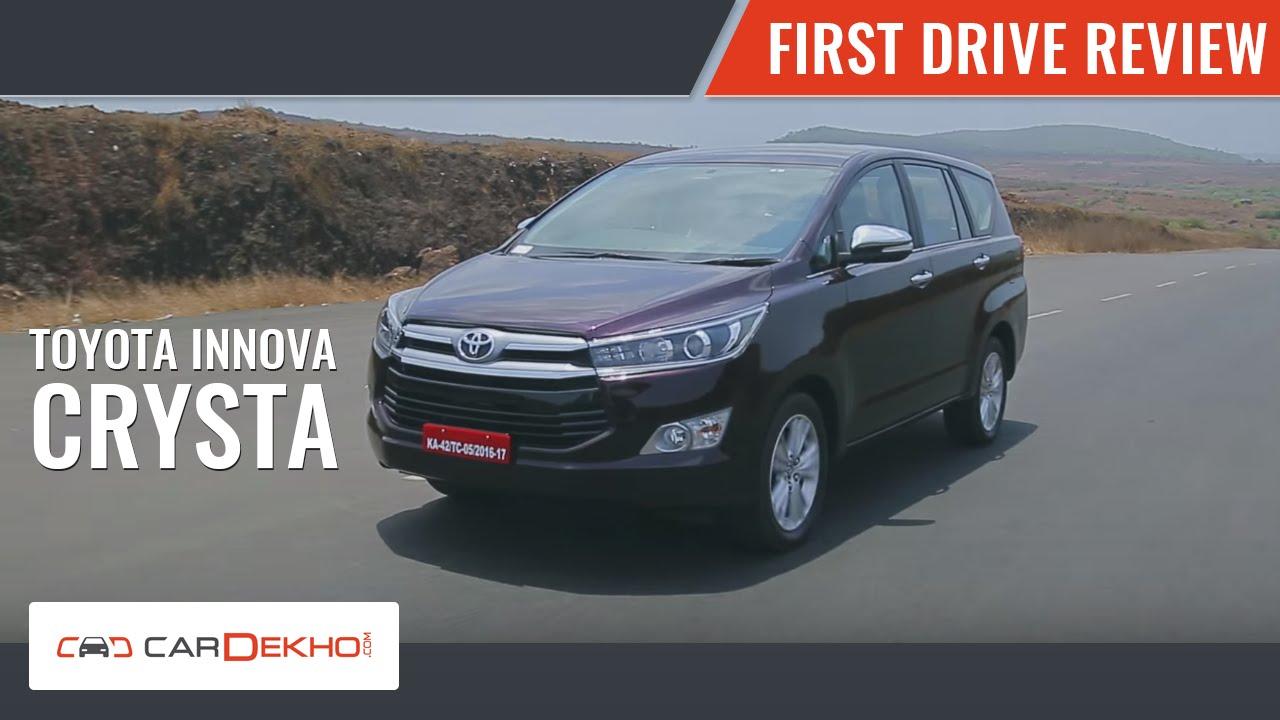 Toyota Innova Crysta: First Drive | CarDekho com