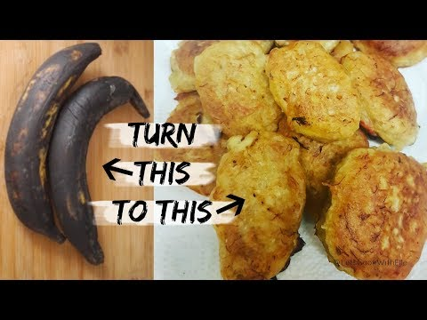 How To Make Plantain Fritters- Avoid food waste & Save Money