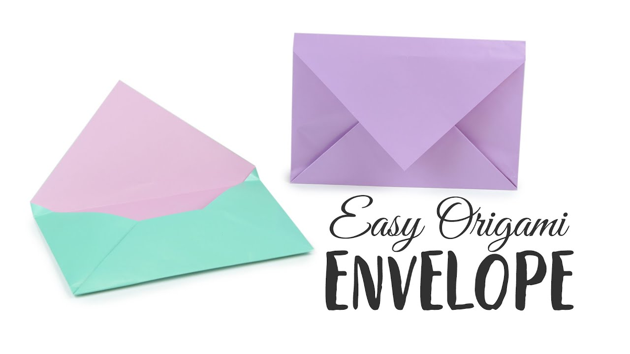 super easy origami envelope tutorial �� diy �� paper kawaii