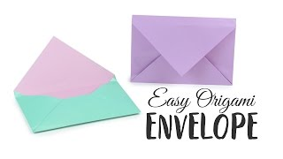 easy Origami Envelope Tutorial  DIY  Paper Kawaii