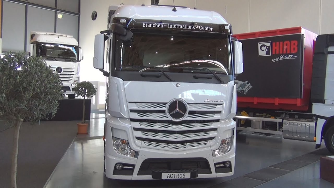Mercedes benz 1848 axor more information - Mercedes Benz Actros 1845 4x2 Tractor Truck 2016 Exterior And Interior In 3d Youtube