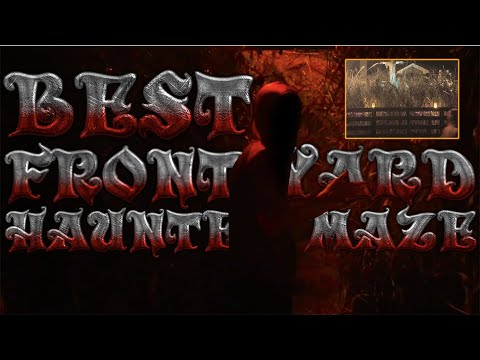 AWESOME Halloween Haunted Cornfield Maze!
