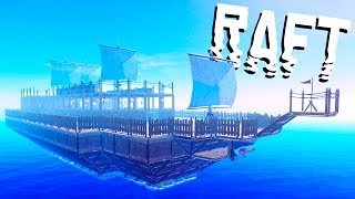 Designing the Epic Pirate Ship! - Raft Gameplay