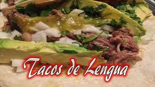 Tacos De Lengua Aka Cow Tongue Tacos