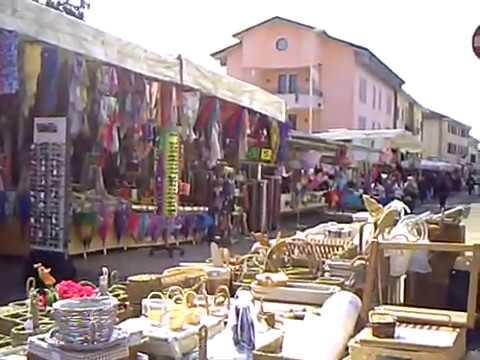 Aviano(Italy) Market - Visiting The Tuesday Open Market In Aviano Square.