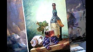 🔝 ХуДоЖнИкИ Картина маслом / Натюрморт / Вино виноград / Вугар Мамедов