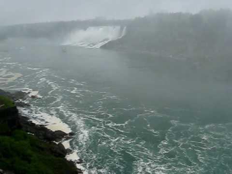 Niagara Falls, Canadian Horse Shoe Falls And American Falls