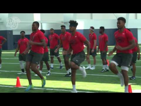 Flames Open New Indoor Football Practice Facility