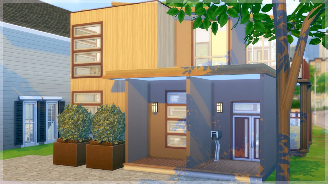 The sims 4 house building modern base game only youtube for House making games