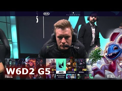 Fnatic vs Vitality | S9 LEC Spring 2019 Week 6 Day 2 | FNC vs VIT W6D2