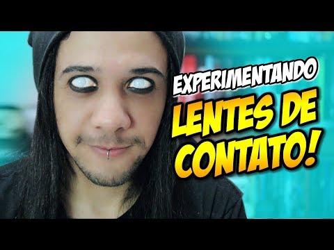 LENTES DE CONTATO EXPERIMENTANDO E 1ª VEZ SEM LENTE